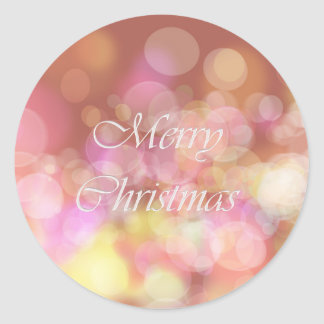 Sticker Rond Joyeux Noël. Salutation