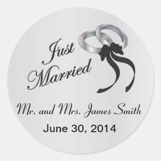 Sticker Rond Juste | mariés personnalisent