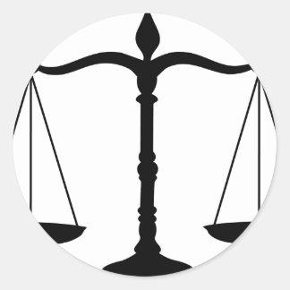 Sticker Rond justice