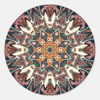 Sticker Rond Kaléidoscope de couleurs