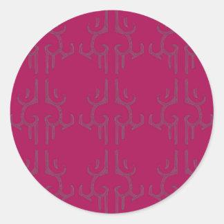Sticker Rond KAUAE FOUS me colorent le lustre rond rose