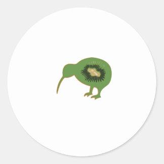 Sticker Rond kiwi de nz de kiwi