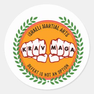 Sticker Rond Krav Maga - la défaite n'est pas une option