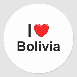 Sticker Rond La Bolivie