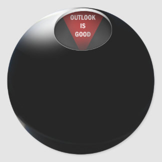 """Sticker Rond La boule de la magie 8 indique, les """"perspectives"""