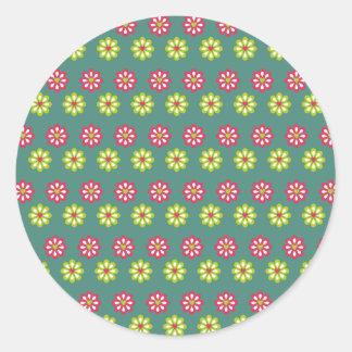 Sticker Rond La conception d'art modèle les tuiles classiques