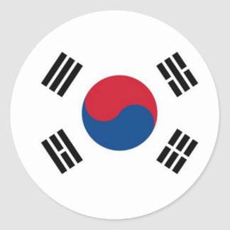 Sticker Rond La Corée du Sud ronde (pas pour l'usage externe)