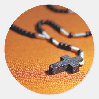 Sticker Rond la croix en bois de chapelet