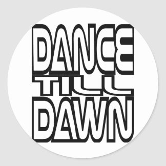Sticker Rond La danse labourent l'aube