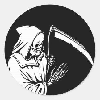 Sticker Rond La faucheuse ou la mort