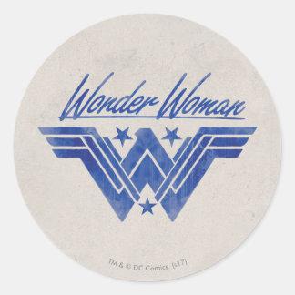 Sticker Rond La femme de merveille a empilé le symbole