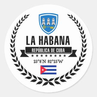 Sticker Rond La Havane