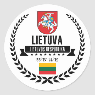 Sticker Rond La Lithuanie