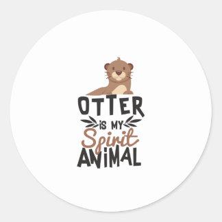 Sticker Rond La loutre gentille est mon poster de animal