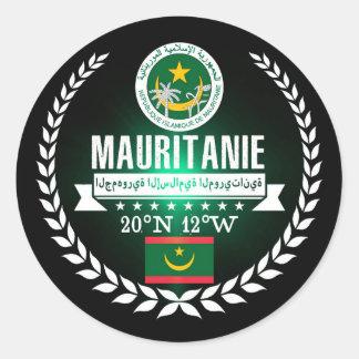 Sticker Rond La Mauritanie