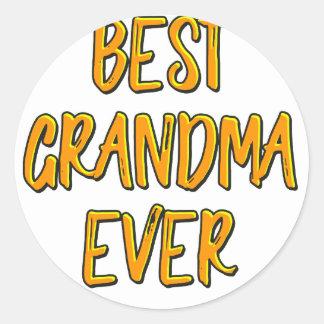 Sticker Rond La meilleure grand-maman jamais