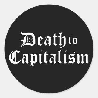 Sticker Rond La mort à l'autocollant de capitalisme