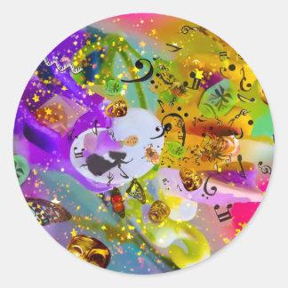 Sticker Rond La musique peut exprimer tout et dire rien