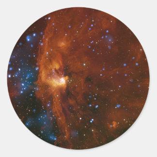Sticker Rond La NASA stellaire de la naissance RCW 108 d'étoile