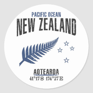 Sticker Rond La Nouvelle Zélande