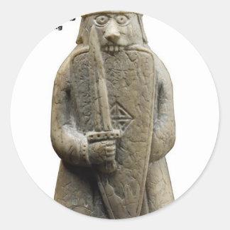 Sticker Rond La prière d'Odin (Viking Berserker)
