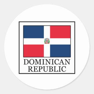 Sticker Rond La République Dominicaine