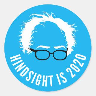 Sticker Rond La rétrospection de ponceuses de Bernie est