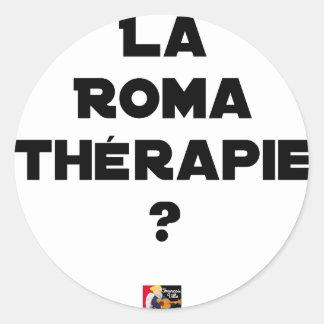 Sticker Rond LA ROMA THÉRAPIE ? - Jeux de mots - Francois Ville