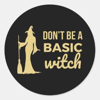 Sticker Rond La sorcière de base