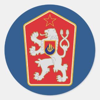 Sticker Rond La Tchécoslovaquie - manteau de 1960-1990)