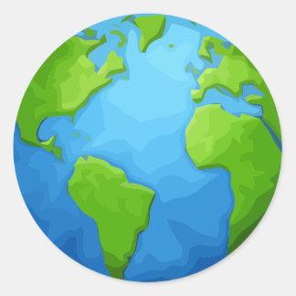 Sticker Rond la terre