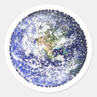 Sticker Rond la terre de feuille
