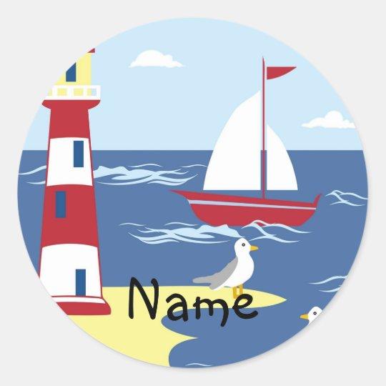 Sticker Rond La vie est un cadeau nautique de filleul de GARÇON