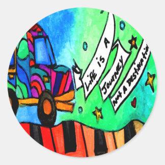Sticker Rond La vie est un voyage pas une destination