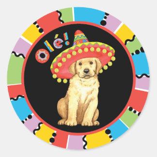Sticker Rond Laboratoire jaune de fiesta