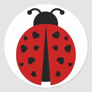 Sticker Rond ladybugz.