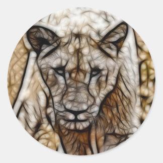 Sticker Rond L'Afrique du Sud je suis art de lion