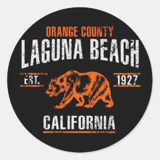 Sticker Rond Laguna Beach