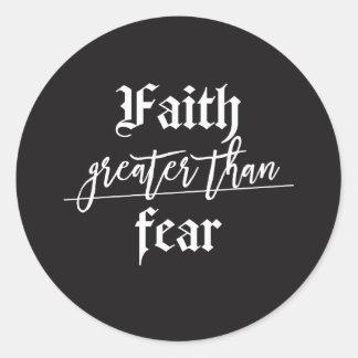 Sticker Rond Laissez votre foi être plus grande que votre