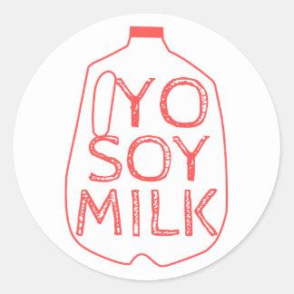 Sticker Rond Lait de soja de Yo