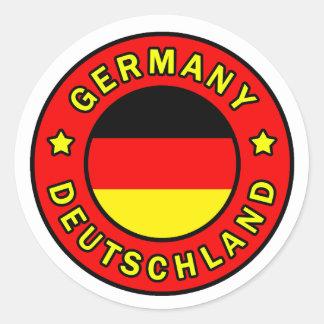 Sticker Rond L'Allemagne