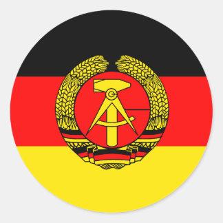 Sticker Rond L'Allemagne de l'Est, drapeau