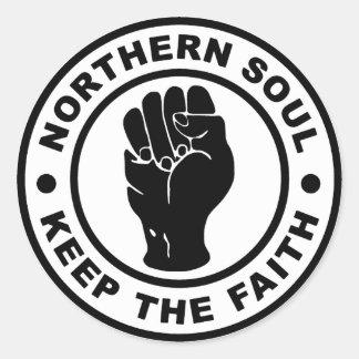 Sticker Rond L'âme du nord gardent la foi