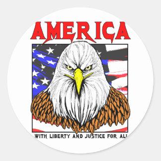 Sticker Rond L'Amérique