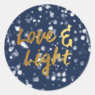 Sticker Rond L'amour et allument l'aluminium beau Bokeh
