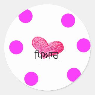 Sticker Rond Langue de Punjabi de conception d'amour
