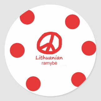 Sticker Rond Langue et conception lithuaniennes de symbole de