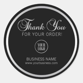 Sticker Rond L'argent d'entreprise | de Merci d'affaires