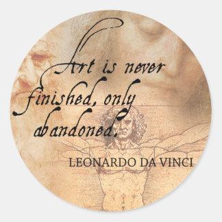 Sticker Rond L'art n'est jamais de finition, seulement