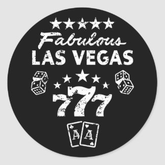 Sticker Rond Las Vegas